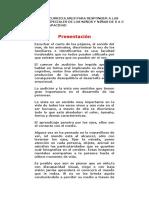 Adaptaciones Curriculares Para Responder a Las Necesidades Especiales de Los Niños y Niñas de 0 a 5 Años Con Discapacidad