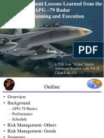 NMarler-Risk and Milestones of AN/APG-79