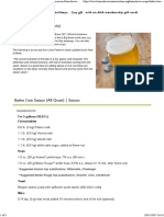 Battre L'Oie Saison (All-Grain) - Beer Recipe