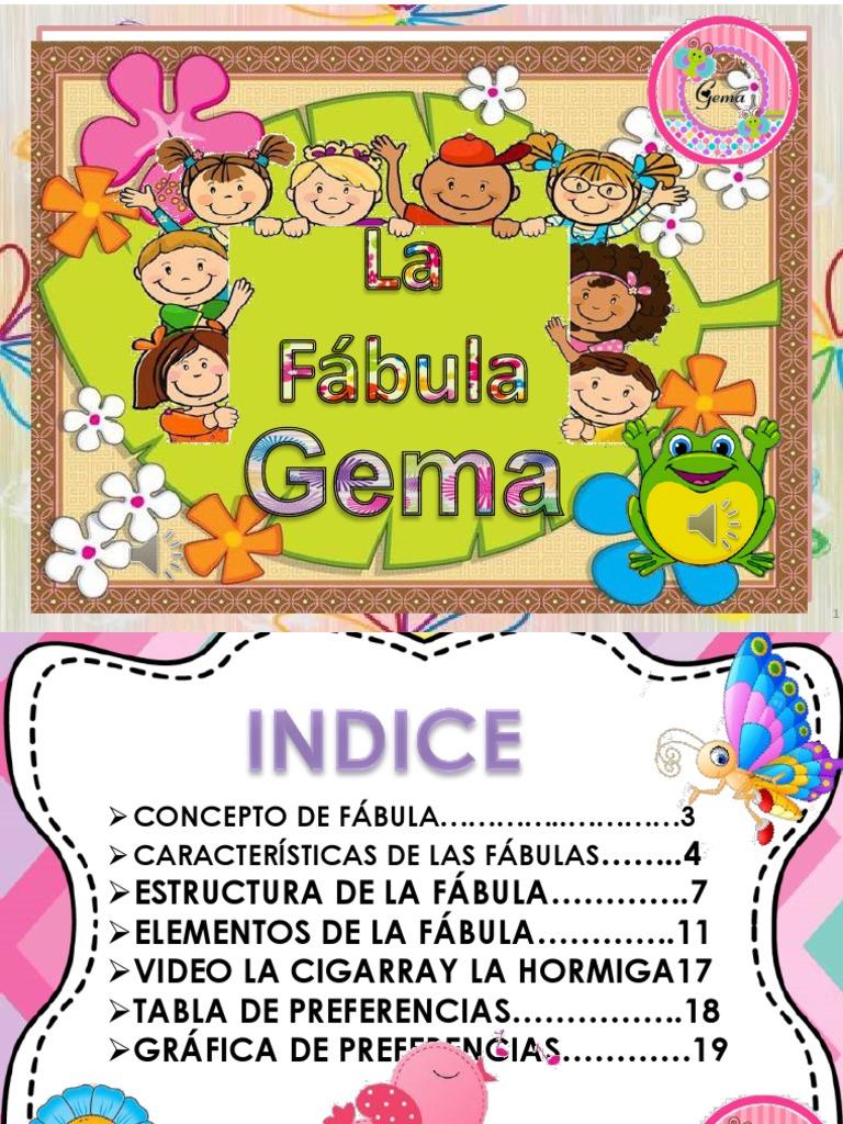 Presentacion1 Gema Pptx Fábula Cuentos