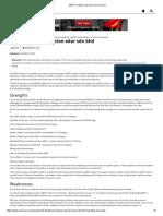 SWOT Analysis of Proton Edar Sdn Bhd