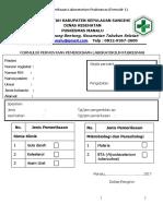 Formulir Permintaan DAN HASIL Pemeriksaan Laboratorium Puskesmas