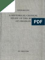 Zvi, Ehud Ben - A Historical-Critical Study of the Book of Obadiah (1996) +.pdf