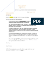 1- Debt Collector Letter
