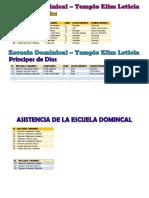 Asistencia Escuela Dominical