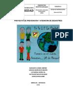 Proyecto de Prevencion y Atencion de Desastres