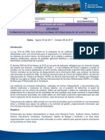 D. Formación de Auditores Bajo NIAS ( BMANGA)