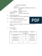 INFORME PSICOMÉTRICO ALLESANDRO