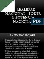 La Realidad Nacional , Poder y Potencia Nacional