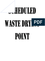 Scheduled Waste Drying Point
