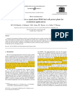 A Dynamic Model for a Stand-Alone PEM Fuel Cell Power Plant for Residential Applications