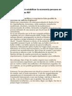 Cambios en le Economia Peruana desde los 90