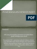 PEMERIKSAAN HEMATOKRIT