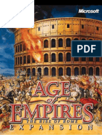 Age of Empires the Rise of Rome Manual