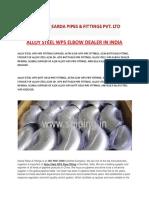 Alloy Steel Wp5 Elbow Dealer in India (2)