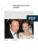 Kevin Spacey Wife Kevin Spacey Wiki | Kevin Spacey Daughter