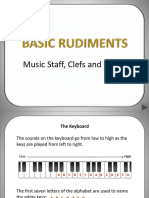 Basic Rudiments of Music