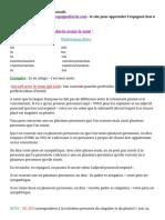 Adjectifs Et Les Pronoms Possessifs