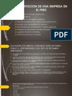 Constitucion de Una Empresa en El Perú