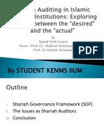 Discussant - Shariah Audit