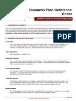_Business Plan Reference Sheet