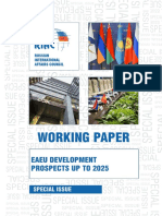 EAEU Development Prospects up to 2025.  Working Paper. Special Issue