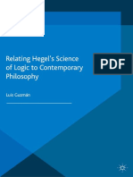 V Luis Guzmán (Auth.)-Relating Hegel's Science of Logic to Contemporary Philosophy-Palgrave Macmillan UK (2015)
