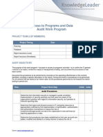Access to Programs and Data Audit Work Program