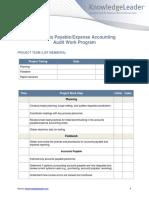 Accounts PayableExpense Accounting Audit Work Program