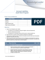 Accured Liability Audit Work Program