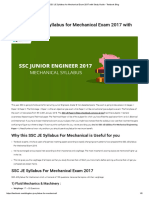 Detailed SSC JE Syllabus for Mechanical Exam 2017 With Study Guide - Testbook Blog