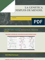 La Genetica Depues de Mendel
