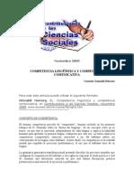 competencias lingïsticas y comunicativas