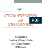 Medication History Interview
