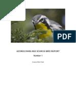 Azores Rare and Scarce Bird Report 2013