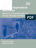 Carton R.B., Hofer C.W. Measuring Organizational Performance