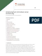Anleitung Zum Schreiben Einer Erörterung - Schulzeug