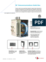 Siemon 5 Square Telecom Outlet Box Spec Sheet