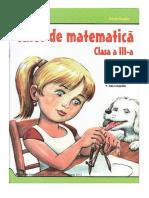 Caiet de Matematica - Clasa a III-A