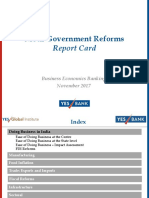 YES BANK Modi Govt Report Card Nov 2017
