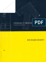 RORTY, RICHARD . VERDAD Y PROGRESO. ESCRITOS FILOSOFICOS 3