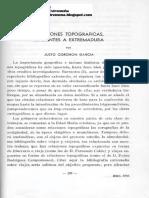 Relaciones topográficas referentes a Extremadura por Justo García Corchón (1949) en Estudios Geográficos nº 35  p. 299-321
