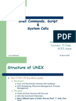 Shell Commands Script System Calls