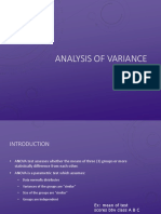 Analysis of Variance (Anova) Students