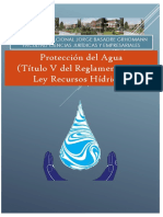 Proteccion Del Agua Ley de Recursos Hídricos