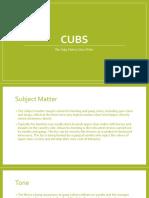 Cubs Analysis