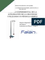 Laboratorio Física I Pendulo