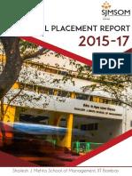 Final Placement Report 2017 Sjmsom Iitbombay