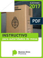 Instructivo Para Autoridades de Mesa