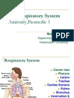 Respiratory System(Anatomy) 1